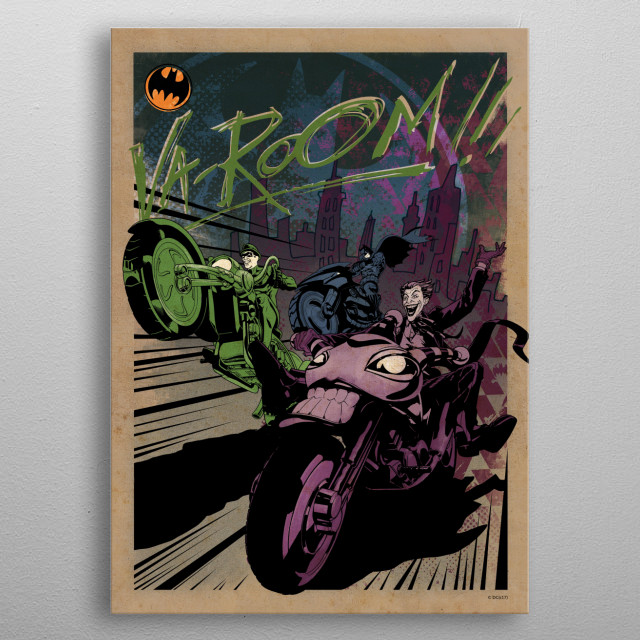 High-quality metal print from amazing Gotham City Motor Club collection will bring unique style to your space and will show off your personality. metal poster