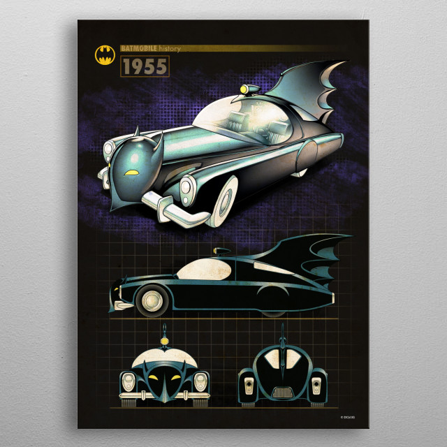 High-quality metal print from amazing Batmobile History collection will bring unique style to your space and will show off your personality. metal poster