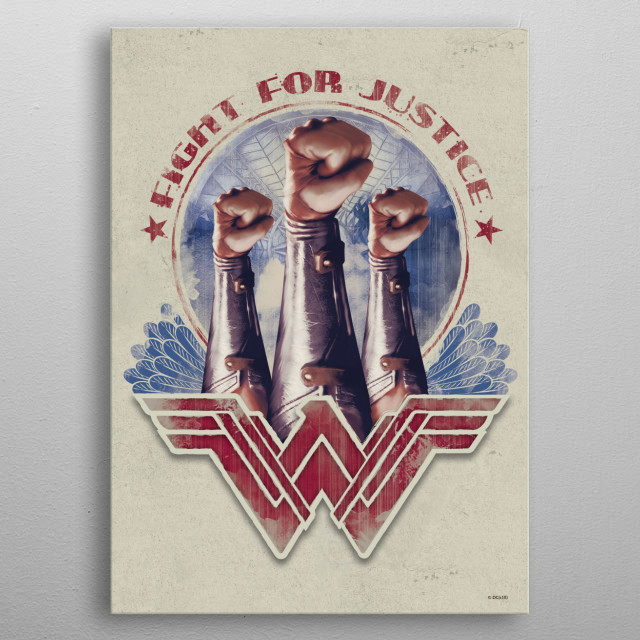 High-quality metal print from amazing Wonder Woman collection will bring unique style to your space and will show off your personality. metal poster