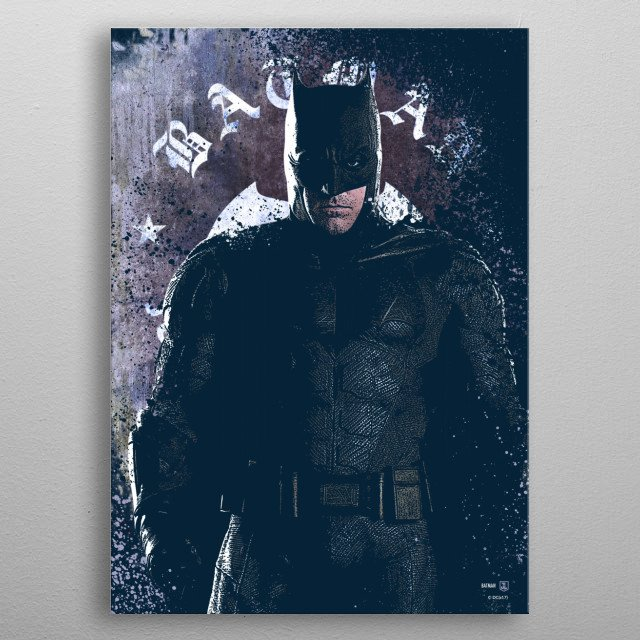 High-quality metal print from amazing Justice League collection will bring unique style to your space and will show off your personality. metal poster