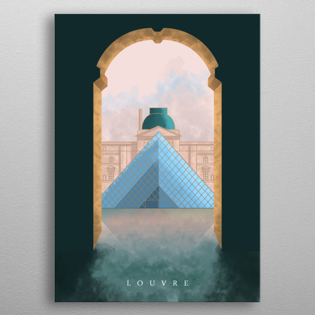 Have you been to Paris? Louvre Pyramid? Or you just love Paris? Then this artwork is the best addition to your home decor.  metal poster