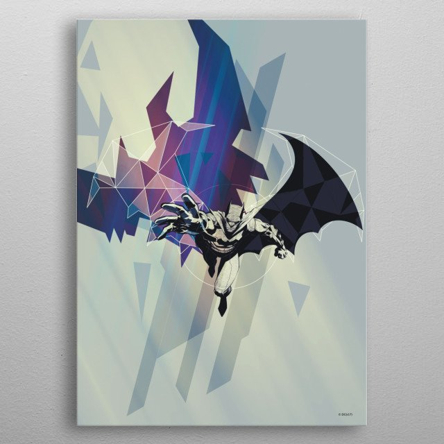 Fascinating metal poster designed by DC Comics  . Displate has a unique signature and hologram on the back to add authenticity to each design. metal poster