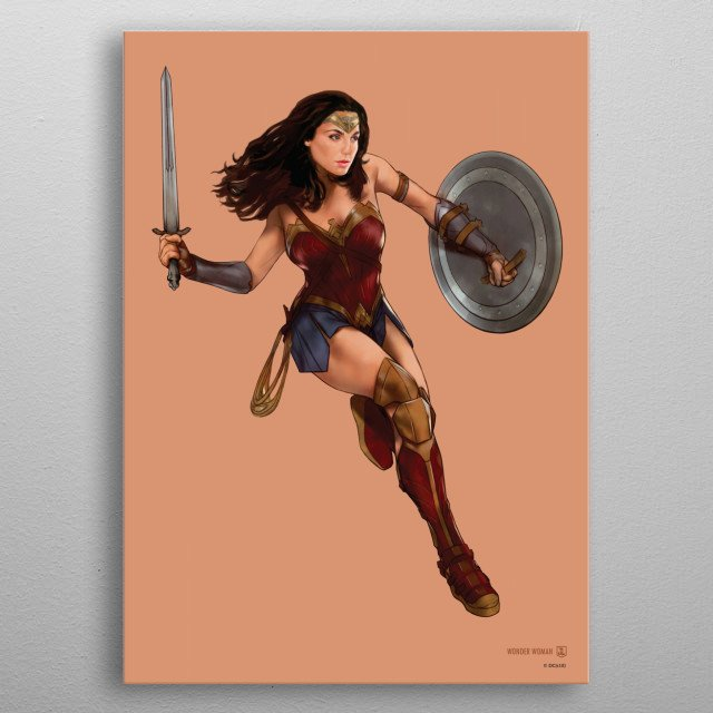 High-quality metal print from amazing Justice League Action collection will bring unique style to your space and will show off your personality. metal poster