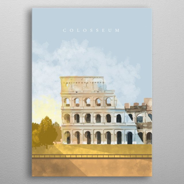 Have you been to Rome? Colosseum? Or you just love Italy? Then this artwork is the best addition to your home decor.  metal poster