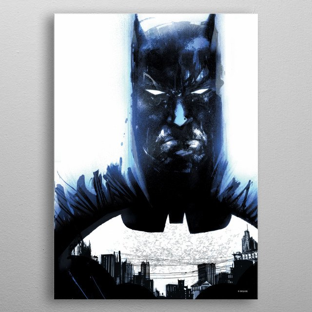 High-quality metal print from amazing Batman Light Absorption collection will bring unique style to your space and will show off your personality. metal poster