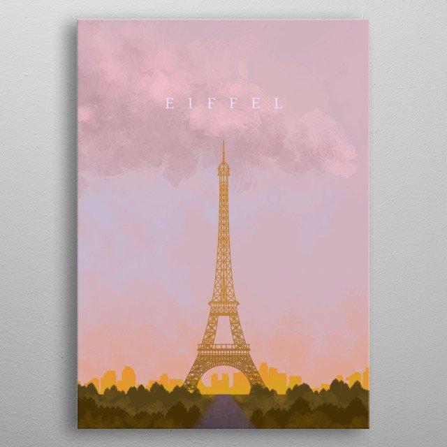 Have you been to Paris? Eiffel Tower? Or you just love Paris? Then this artwork is a best addition to your home decor.  metal poster