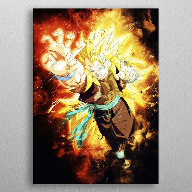 Gogeta Xeno Ssj4 Anime Manga Poster Print Metal Posters