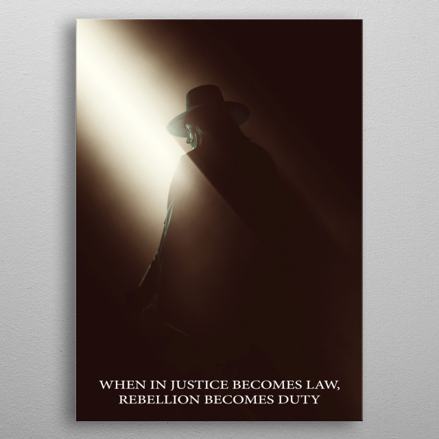 V For Vendetta Movies Poster Print Metal Posters Displate