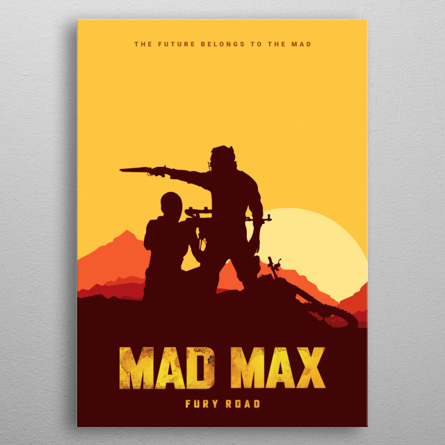 Mad Max Fury Road Movie Fan Art Poster metal poster