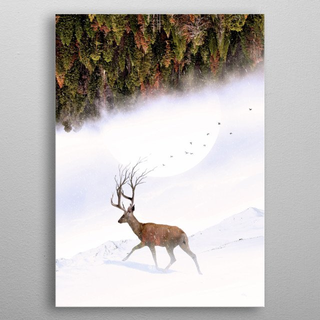Things in nature are inevitable. metal poster