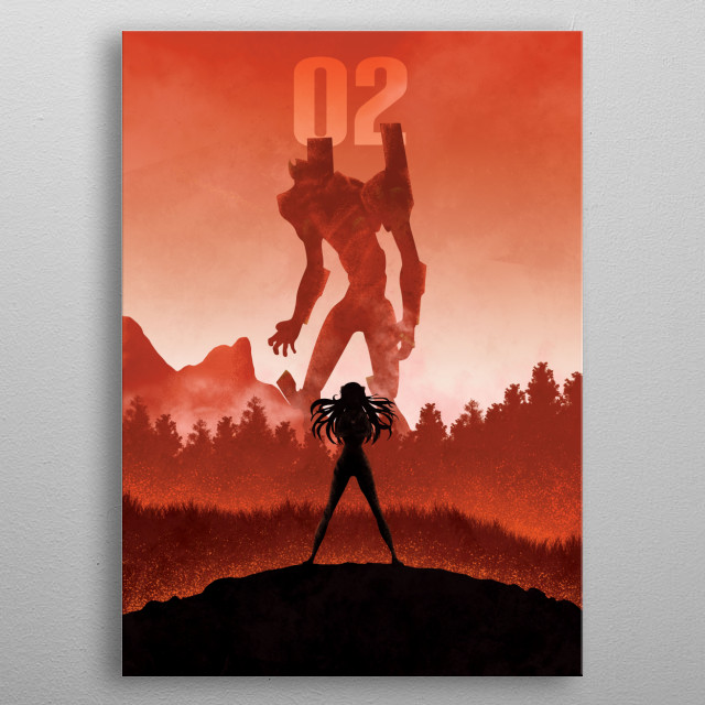 Illustration inspired by Evangelion metal poster