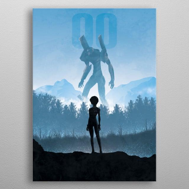 Illustration inspired by Evangelion metal poster