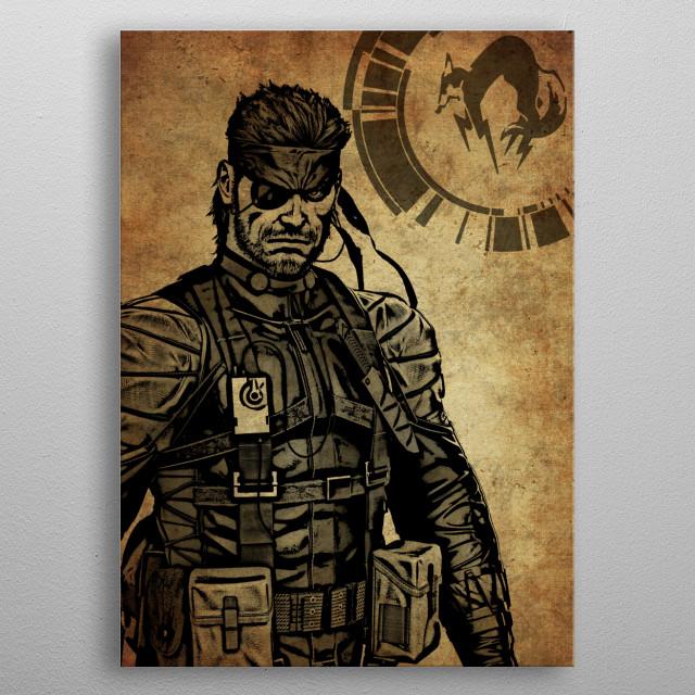 Metal Gear Solid Snake Mancave Poster Print Metal Posters