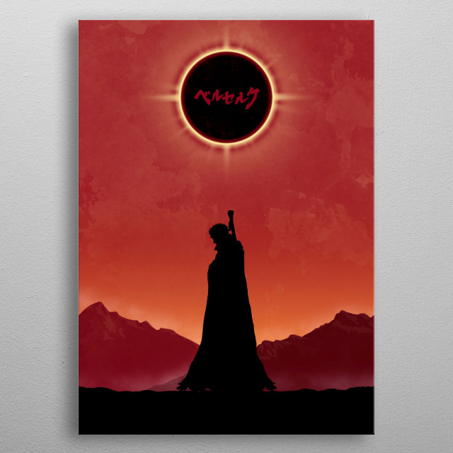 Guts silhouette metal poster