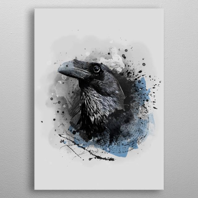 Crow bird art #crow #bird metal poster
