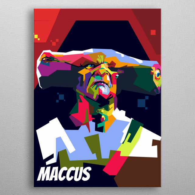 Maccus is antagonist from pirate of the carribean metal poster