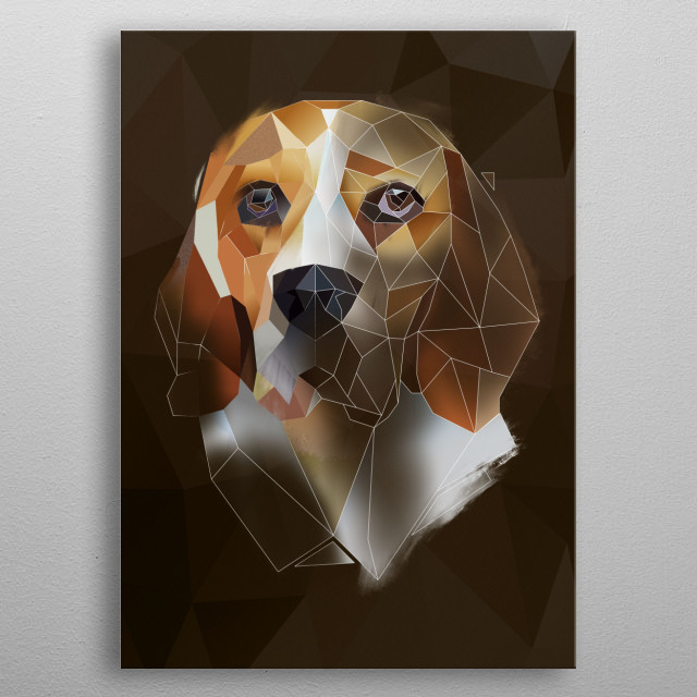 Beagle from Modern Animal collection metal poster