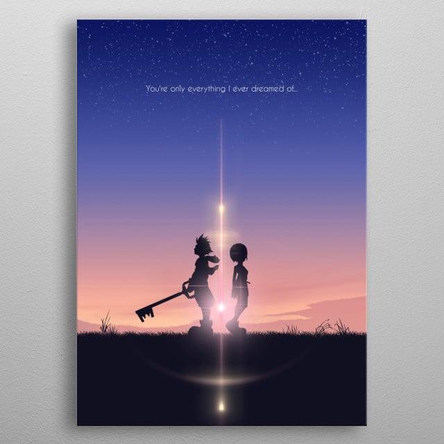 Sora & Kairi metal poster