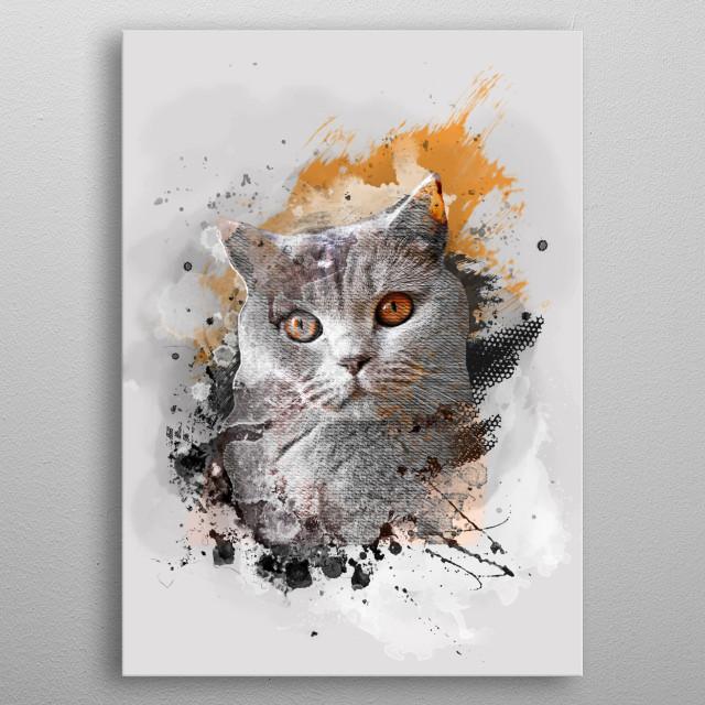 cat art #cat metal poster