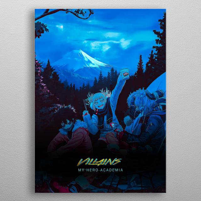 Villains - Boku no Hero Academia (My Hero Academia) Cyberpunk Art Style Poster metal poster