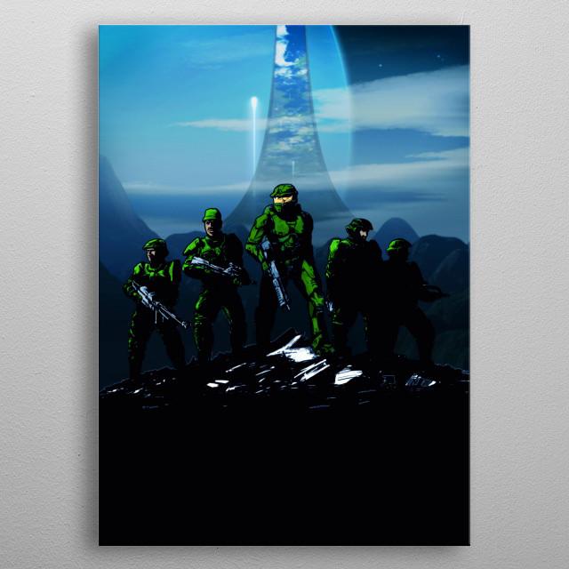 Halo inspired artwork by Gab Fernando. metal poster