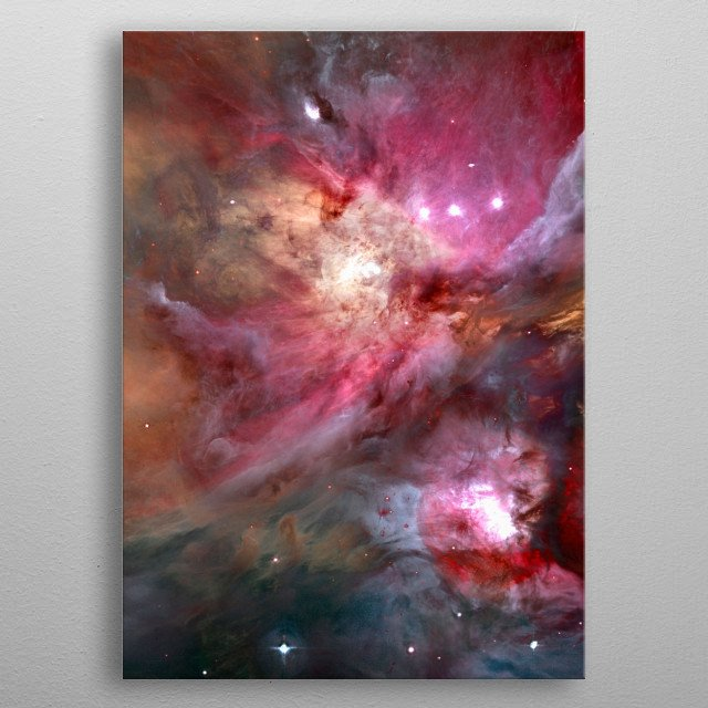Galactic Space. Colorful stars in Universe metal poster