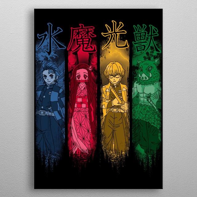 anime metal poster