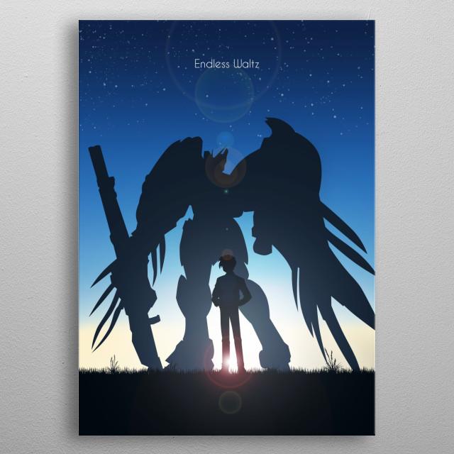 Heero Yuy & Wing Gundam Zero EW metal poster