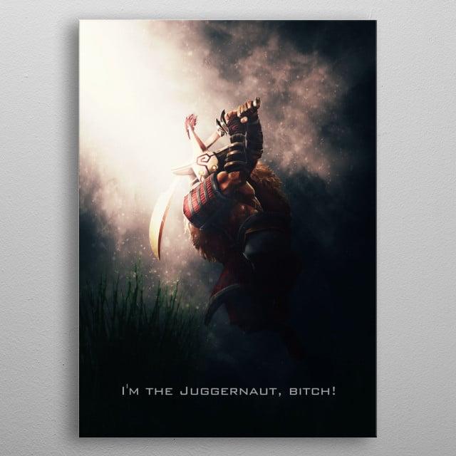 Dota 2 character Yurnero/Juggernaut inspired artwork by Gab Fernando. metal poster