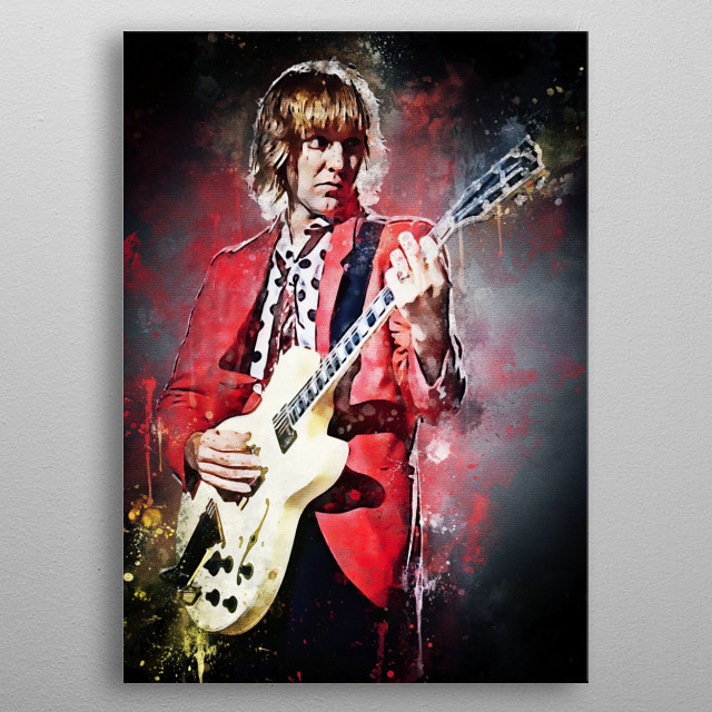 Alex Lifeson, a Canadian musician, is best known as the guitarist of the Canadian rock band Rush. metal poster