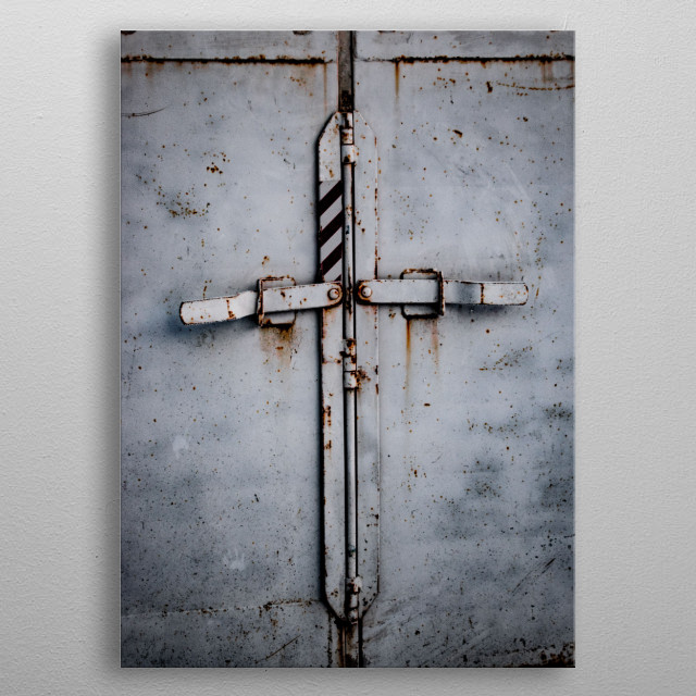 The doors of a horse trailer makes for a nice t or cross....enjoy! metal poster