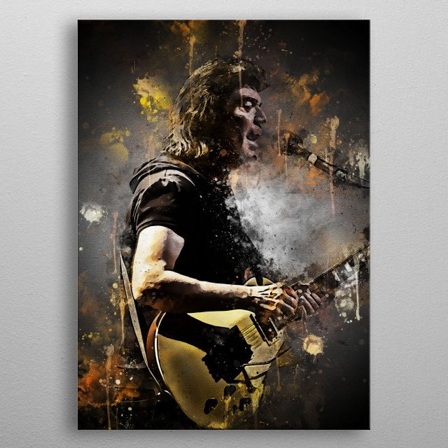 """Steve """"Hackett is an English guitarist and songwriter. He is a former member of Genesis but left after the album Wind & Wuthering. metal poster"""