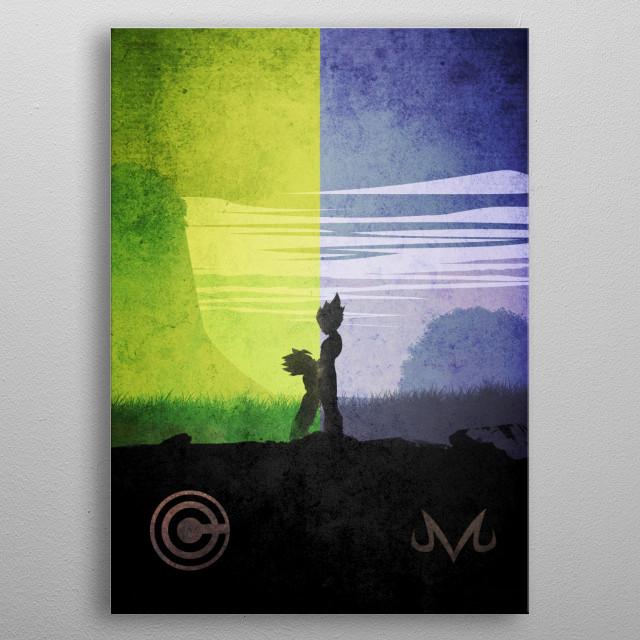 Vegeta Trunks metal poster