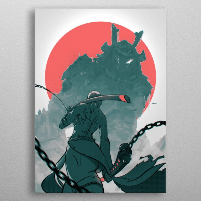 A Japanese themed epic scene metal poster
