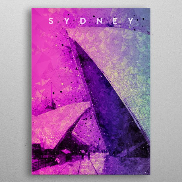 This artwork is perfect for travelers and people who loves Sydney Australia specifically the Opera House. This is for your travel memories. metal poster