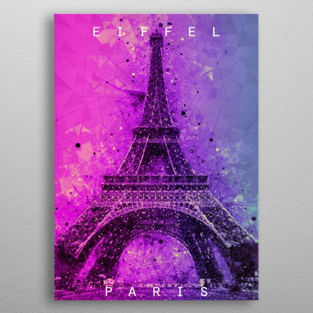 This artwork is perfect for travelers and people who love Eiffel Tower Paris. This is for your travel memories. metal poster