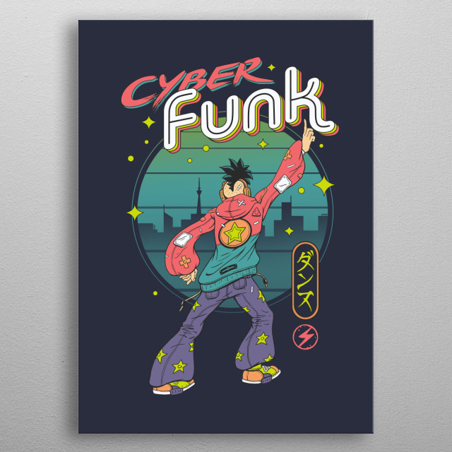 Cyber Funk music! that gets you groovy!     metal poster
