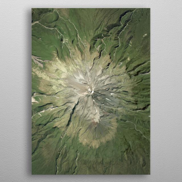 Mount Taranaki is an active stratovolcano in the Taranaki region on the west coast of New Zealand's North Island. metal poster