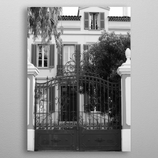 Chanel Saint-Tropez by photographer Tom Vandenhende. metal poster