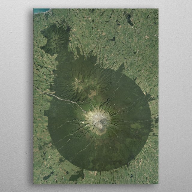 Egmont National Park is located south of New Plymouth, close to the west coast of the North Island of New Zealand. metal poster