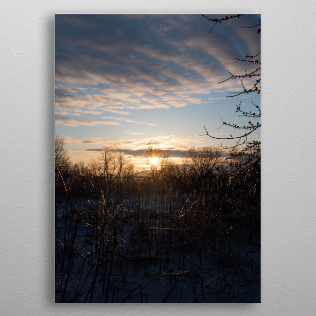 The ice gave a glimmer of hope as the day began...Enjoy!  metal poster