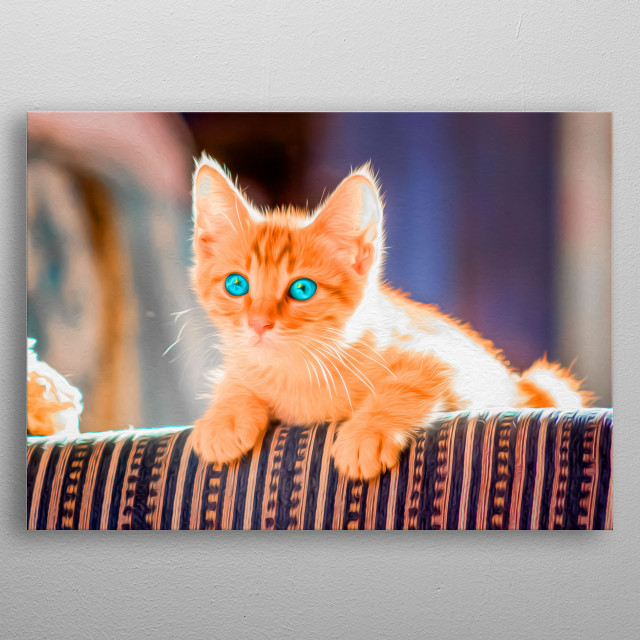 Is there anything more cute in this world than little kittens? metal poster