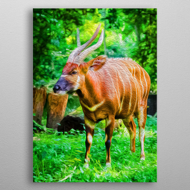 Antilopes are incredibly peaceful and beautiful herbivores who roam warm-climate areas. metal poster