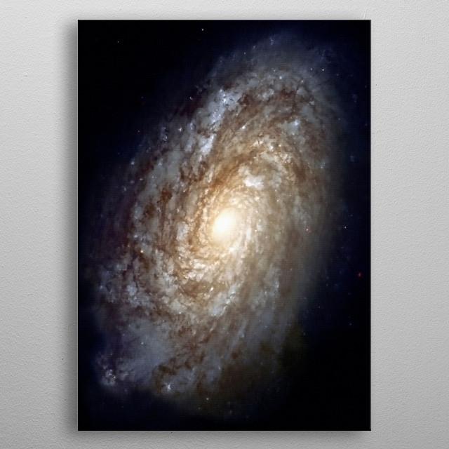Vivid Galaxy in Space. Digital painting metal poster