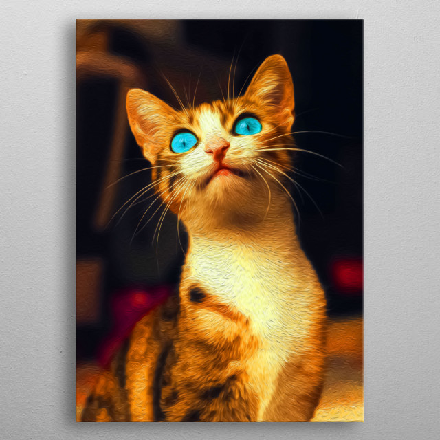 The cuteness of kittens remains unmatched! metal poster