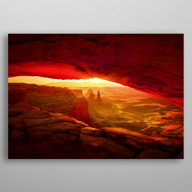 Canyons are some of the world's most fascinating natural structures. metal poster