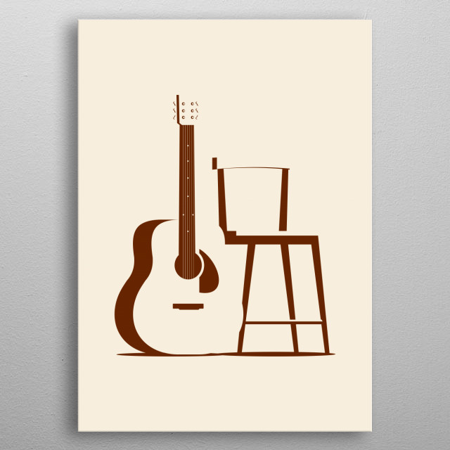 inspired by an accoustic gig and a good music metal poster