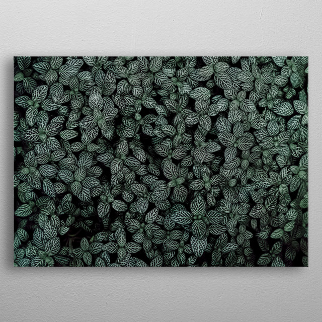 Having artistic black and white leaves artwork can really help you to add some floral vibe to your room! metal poster