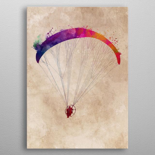 paraglider spot art metal poster