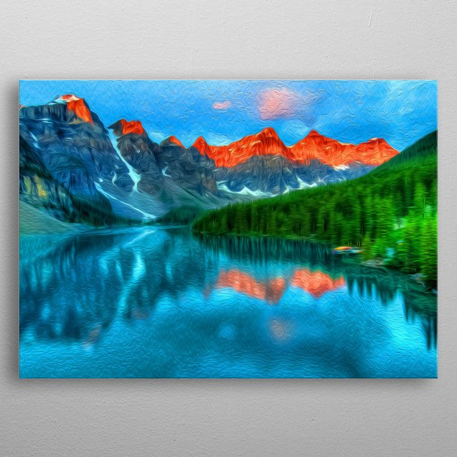 There's nothing like looking at natural landscape. metal poster